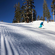 A late winter storm dropped a few feet of snow on the Mammoth Mountain Ski Area.