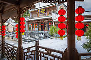 "Hongcun (Chinese: 宏村; pinyin: Hóngcūn; literally: ""Hong village"") is a village in Hongcun Town (宏村镇), Yi County, Huangshan City in the historical Huizhou region of southern Anhui Province, China, near the southwest slope of Mount Huangshan.<br /> <br /> The village is arranged in the shape of an ox with the nearby hill (Leigang Hill) interpreted as the head, and two trees standing on it as the horns. Four bridges across the Jiyin stream can be seen as the legs whilst the houses of the village form the body. Inside the ""body"", the Jiyin stream represents the intestines and various lakes such as the ""South Lake"" (Nanhu) form the other internal organs.<br /> <br /> The architecture and carvings of the approximately 150 residences dating back to the Ming and Qing Dynasties are said to be among the best of their kind in China.[citation needed] One of the biggest of the residences open to visitors, Chenzhi Hall, also contains a small museum.<br /> <br /> Together with Xidi, the village became a UNESCO World Heritage Site in 2000. Scenes from the film Crouching Tiger, Hidden Dragon were filmed on location in Hongcun."