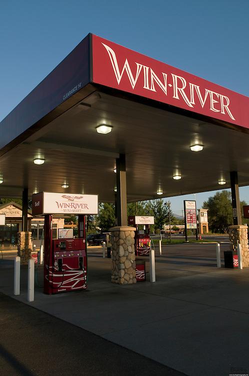 Win-River Mini-mart and the Hilton Garden Inn