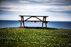 Bench at Tangasdale, Isle of Barra.