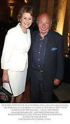 MR & MRS JOHN RITCHIE, he is the father of Guy Ritchie husband of pop star Madonna, at a reception in London on 25th March 2003.PIK 34