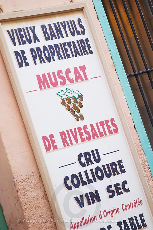 Domaine Pietri-Geraud Roussillon. Vieux old Banyuls, Muscat de Rivesaltes, Cru Collioure, vin wine sec dry. France. Europe.