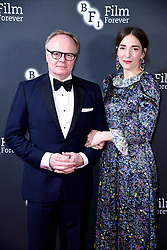 Jason Watkins and Clara Francis attending the BFI Chairman's dinner held at the The Rosewood Hotel, London.