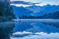 Oceania; New Zealand; Aotearoa; South Island; West Coast,  South Westland, Lake Matheson, near the Fox Glacier