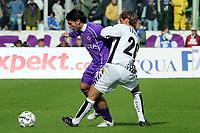 Firenze 05/03/2006<br /> Fiorentina-Siena<br /> Nella foto pazienza e locatelli in contrasto<br /> Photo Luca Pagliaricci Graffiti