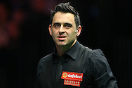 Ronnie O'Sullivan (Eng) looking on. Ronnie O'Sullivan (Eng) v Joe Perry (Eng), the Masters Final at the Dafabet Masters Snooker 2017, at Alexandra Palace in London on Sunday 22nd January 2017.<br /> pic by John Patrick Fletcher, Andrew Orchard sports photography.