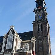 NLD/Amsterdam/20120812 - Varen door de Amsterdamse grachten, Westertoren