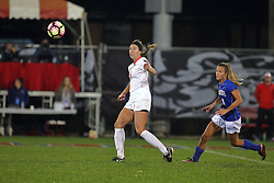 04 November 2016:  Brooke Ksiazek(25) during an NCAA Missouri Valley Conference (MVC) Championship series women's semi-final soccer game between the Indiana State Sycamores and the Illinois State Redbirds on Adelaide Street Field in Normal IL
