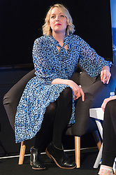© Licensed to London News Pictures. 18/04/2016. Laura Leverne gives a talk on celebrity talent at Advertising Week Europe 2016. London, UK. Photo credit: Ray Tang/LNP