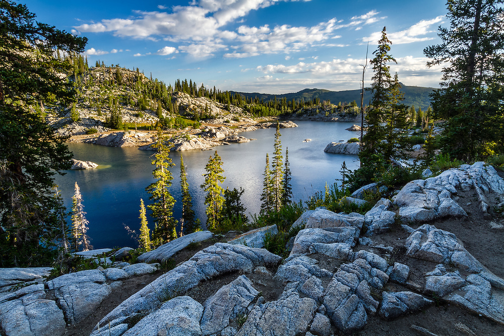 The view of Lake Mary in the Wasatch Mountains near Salt Lake City, Utah on a warm Summer morning is a sight to see and one many don't even know exists so close to a major urban area.  Big Cottonwood Canyon holds some surprises for you if you're willing to hike for them.