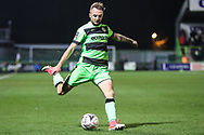 Forest Green Rovers Carl Winchester(7) on the ball during the The FA Cup 1st round replay match between Forest Green Rovers and Oxford United at the New Lawn, Forest Green, United Kingdom on 20 November 2018.