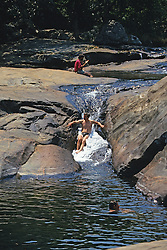 Tourists Enjoying River, Mt Mulanje