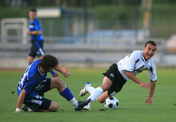Etien Velikonja vs Andrew Cohen  during 2nd match of 1st round Intertoto Cup soccer match between ND Gorica and Hibernians FC at Sports park, on June 28,2008, in Nova Gorica, Slovenia. (Photo by Vid Ponikvar / Sportal Images)