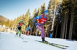 Dmitry Malyshko (RUS) during Men 12,5 km Pursuit at day 3 of IBU Biathlon World Cup 2015/16 Pokljuka, on December 19, 2015 in Rudno polje, Pokljuka, Slovenia. Photo by Vid Ponikvar / Sportida