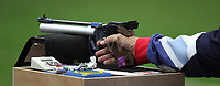 Paralympics London 2012 - ParalympicsGB - Shooting Mens P1-10m Air Pistol- SH1 Heats 30th August 2012<br />   <br /> Adrian Bunclark competing in the Mens P1-10m Air Pistol-SH1 Heats at the Paralympic Games in London. Photo: Richard Washbrooke/ParalympicsGB