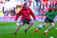Lee Cattermole of Sunderland (6) warming up during the EFL Sky Bet League 1 first leg Play Off match between Sunderland and Portsmouth at the Stadium Of Light, Sunderland, England on 11 May 2019.