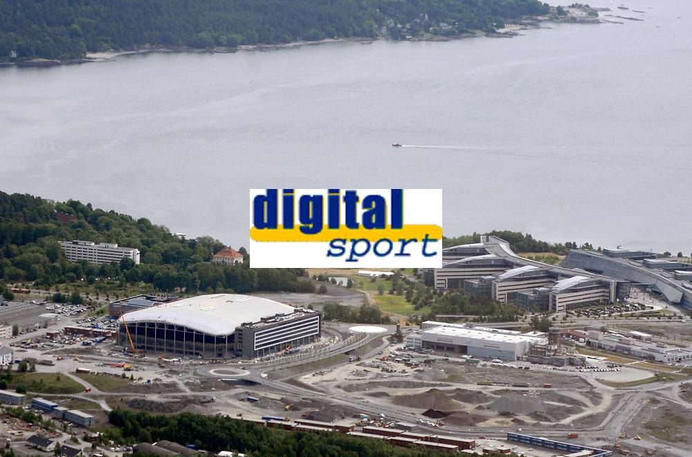 Fornebu Arena / Telenor Arena / Ny hjemmebane for Stabæk på Fornebu fotografert fra luften i juni 2008. Flyfoto. Aerial photo. Norway.<br /> <br /> <br /> <br /> 9. juni 2008. Foto: Peter Tubaas/Digitalsport<br /> <br /> <br /> <br /> Arena Stadion Stadium Flyfoto Aerial photo Norway