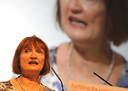 © Licensed to London News Pictures. 28/09/2011. LONDON, UK. Tessa Jowell, Shadow Secretary of State for the Cabinet Office, delivers a speech to The Labour Party Conference in Liverpool today (28/09/11). Photo credit:  Stephen Simpson/LNP