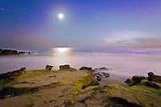HDR Photo of Laguna Beach and the Moon