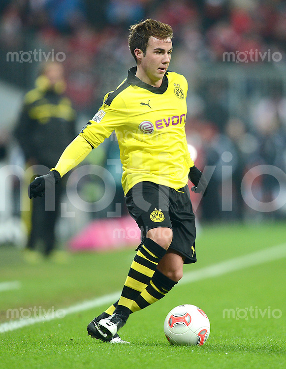 FUSSBALL   1. BUNDESLIGA  SAISON 2012/2013   15. Spieltag FC Bayern Muenchen - Borussia Dortmund     01.12.2012 Mario Goetze (Borussia Dortmund)