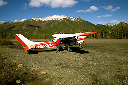 Alaska: Denali Natll Park.  Air flights to Mt. McKinley.  Photo akdena103..Photo copyright Lee Foster, 510/549-2202, lee@fostertravel.com, www.fostertravel.com