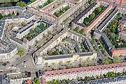 Nederland, Noord-Holland, Amsterdam, 09-04-2014; Stadionbuurt met Stationsweeg en Olympiaweg.<br /> luchtfoto (toeslag op standard tarieven);<br /> aerial photo (additional fee required);<br /> copyright foto/photo Siebe Swart