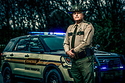 Tennessee Highway Patrol Lt. Billy Smith poses for a portrait.
