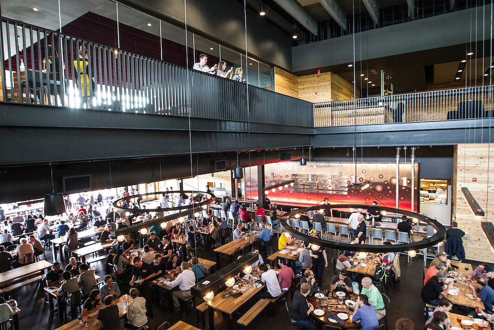 Brewer's Table, a finer dining restaurant, as well as a private event space are on located on the second floor above the vast beer hall at Surly Brewing Co. in Minneapolis, MN, May 15, 2015.
