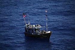 INDIAN OCEAN 24MAR13 - An unidentified Sri Lankan fishing vessel (IMUL-A-0500 CHW) drifts in the Chagos EEZ in the Indian Ocean.<br /> <br /> <br /> <br /> The Greenpeace ship Esperanza is on patrol in the Indian ocean documenting illegal fishing vessels.<br /> <br /> <br /> <br /> jre/Photo by Jiri Rezac / Greenpeace
