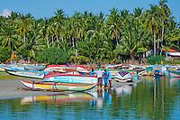 Sri Lanka, province de l'Est, Trincomalee, village des pecheurs de Sampaltivu // Sri Lanka, Ceylon, Eastern Province, East Coast, Trincomalee, Sampaltivu, village of fishermen