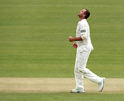 Durham's John Hastings celebrates - Photo mandatory by-line: Robbie Stephenson/JMP - Mobile: 07966 386802 - 03/05/2015 - SPORT - Football - London - Lords  - Middlesex CCC v Durham CCC - County Championship Division One