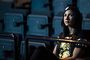 Tecia Torres waits backstage before the UFC weigh-in at the Mexico City Arena in Mexico City, Mexico on June 12, 2015. (Cooper Neill)