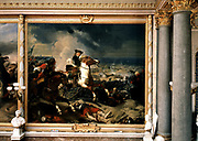 'Seige of Dunkirk' (Dunkerque) - Battle of the Dunes won by Marshal Turenne (centre) 14 June 1658. Charles Philippe Auguste de Lariviere (1798-1876) French historical painter. Galerie des Batailles, Versailles.