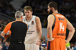 December 19, 2017 - Madrid, Madrid, Spain - Luca Doncic, #4 of Real Madrid gestures during the 2017/2018 Turkish Airlines EuroLeague Regular Season Round 13 game between Real Madrid and Valencia Basket at WiZink center in Madrid. (Credit Image: © Jorge Sanz/Pacific Press via ZUMA Wire)
