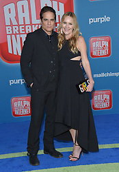 November 5, 2018 - Hollywood, California, U.S. - Linda Larkin and Yul Vazquez arrives for the 'Ralph Breaks the Internet' World Premiere at the El Capitan theater. (Credit Image: © Lisa O'Connor/ZUMA Wire)