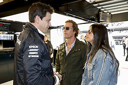 October 20, 2018 - Austin, United States - Motorsports: FIA Formula One World Championship; 2018; Grand Prix; United States, FORMULA 1 PIRELLI 2018 UNITED S GRAND PRIX , Circuit of The Americas  , Matthew Mcconaughey, ActorToto Wolff (AUT, Mercedes AMG Petronas Formula One Team) (Credit Image: © Hoch Zwei via ZUMA Wire)