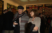 Tchaik Chassay and Melissa North. Gilbert and George SonOfAGod  Pictures. White Cube. 19  January 2006.  ONE TIME USE ONLY - DO NOT ARCHIVE  © Copyright Photograph by Dafydd Jones 66 Stockwell Park Rd. London SW9 0DA Tel 020 7733 0108 www.dafjones.com