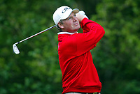 Photograph: Scott Heavey<br />Volvo PGA Championship At Wentworth Club. 25/05/2003.<br />Mathias Gronberg fires from the 5th.