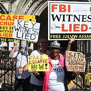 Protest of Preliminary US Appeal Hearing, Royal Courts of Justice, Strand, London