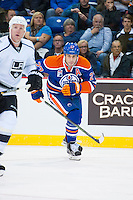 KELOWNA, CANADA - OCTOBER 2: Milan Lucic #27 of the Edmonton Oilers skates against the Los Angeles Kings on October 2, 2016 at Kal Tire Place in Vernon, British Columbia, Canada.  (Photo by Marissa Baecker/Shoot the Breeze)  *** Local Caption *** Milan Lucic;