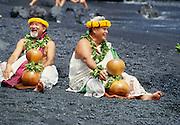 Hula halau, Waianapanapa State Park, Hana Coast, Maui, Hawaii