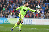 goalkeeper Tomasz Kuszczak of Birmingham city in action.EFL Skybet championship match, Cardiff city v Birmingham City at the Cardiff City Stadium in Cardiff, South Wales on Saturday 11th March 2017.<br /> pic by Andrew Orchard, Andrew Orchard sports photography.