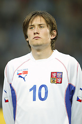 TEPLICE, CZECH REPUBLIC - Wednesday, April 30, 2003: Czech Republic's Tomas Rosicky pictured before a friendly match against Turkey at the Teplice Stadion Na Stinadlech. (Pic by David Rawcliffe/Propaganda)