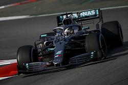 February 28, 2019 - Montmelo, Spain - LEWIS HAMILTON of Mercedes AMG Petronas Motorsport during the 2019 FIA Formula 1 World Championship pre season testing at Circuit de Barcelona-Catalunya in Montmelo, Spain. (Credit Image: © James Gasperotti/ZUMA Wire)