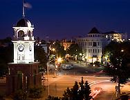 Downtown Santa Cruz at dusk