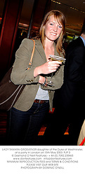 LADY TAMARA GROSVENOR daughter of the Duke of Westminster, at a party in London on 15th May 2003.PJP 3