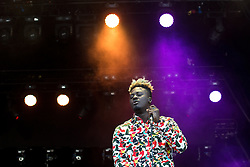 © Licensed to London News Pictures . 05/06/2015 . Manchester , UK . BIPOLAR SUNSHINE ( Adio Marchant ) on stage . Evening concerts featuring headliners , The Courteeners , playing a homecoming gig , at Heaton Park in Manchester in front of 25,000 people , the evening before the Parklife music festival . Photo credit : Joel Goodman/LNP
