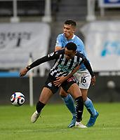Football - 2020 / 2021 Premier League - Newcastle United vs Manchester City - St James' Park<br /> <br /> Joe Willock of Newcastle United vies with Rodri of Manchester City<br /> <br /> Credit : COLORSPORT/BRUCE WHITE