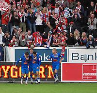Fotball, Tippeligaen, Rosenborg ( RBK ) - Lyn,<br /> Supportere jubel   <br /> Foto: Carl-Erik Eriksson, Digitalsport