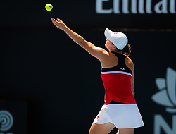 January 8, 2019 - Sidney, AUSTRALIA - Ashleigh Barty of Australia in action during her first-round match at the 2019 Sydney International WTA Premier tennis tournament (Credit Image: © AFP7 via ZUMA Wire)